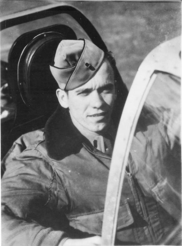 Earning two aerial victories, Lt. Boyd N. Adkins Jr. of Stiltner, WV, flew with the 368th Fighter Squadron, 359th Fighter Group, from September 1944 through April 1945.     Photo courtesy of Marvin Boussu. Archived by Char Baldridge, Historian, 359th Fighter Group Association. Posted by Janet Fogg, Author.