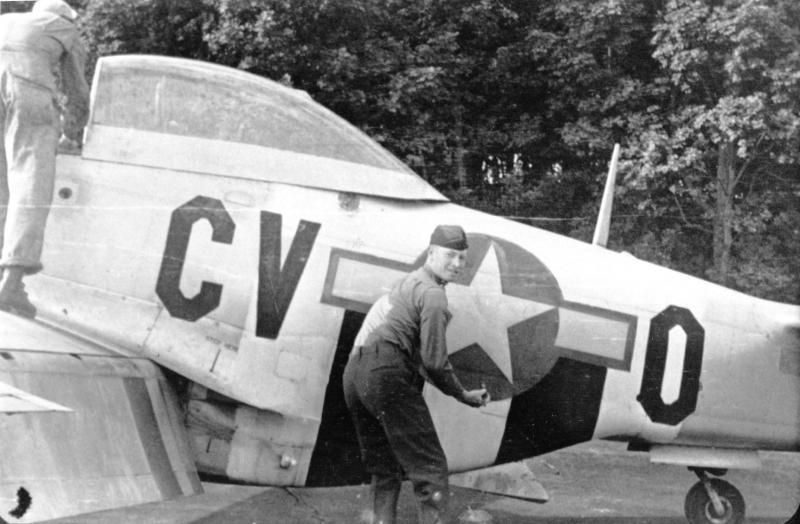 Lt. John C. Allen was KIA on 8 August 1944. He enlisted at Ft. McClellan AL on 23 November 1942 and was first assigned to the 496th FTG before joining the 368th Fighter Squadron, 359th Fighter Group, on 3 June 1944. Lt. Allen was buried in the Epinal American Cemetery in France.