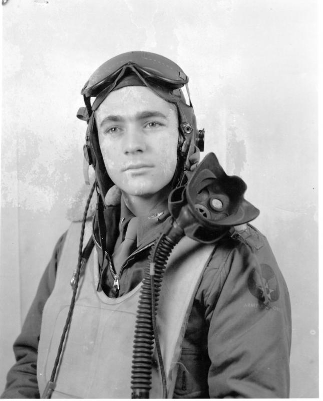 Joining the 370th Fighter Squadron on 35 March 1945, Lt. Claire A. Becker of Moline, IL, flew seven combat missions before completing his combat tour of duty with the 359th Fighter Group in September 1945.