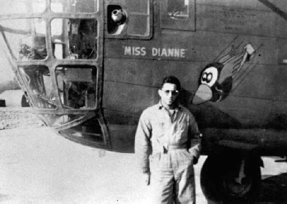 The B-24D - 5 - CO  -  SN # 41-23784, named  'Miss Dianne' with her Crew Chief Master Sgt. George Baccash, in the 8th Air Force - 44th Bomb Group -and the 67th Bomb Squadron.    Lost  Mar 8, 1943  - Rouen, France  -  MACR 15570  -  Pilot Morton P. Gross