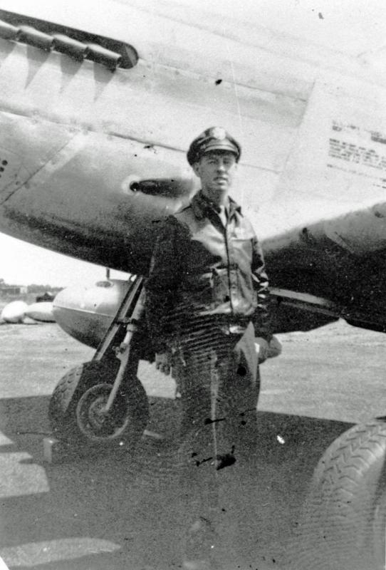 Lt. Grover C. Deen of the  369th Fighter Squadron, 359th Fighter Group