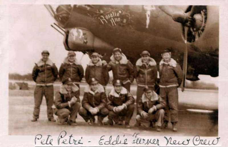 Second from right in back row  Rosalie Ann II  32 missions  from February through June, 1944