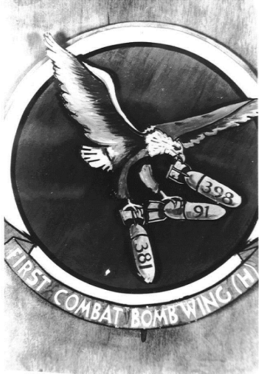First Combat Wing logo of the 398th.Nuthampstead.