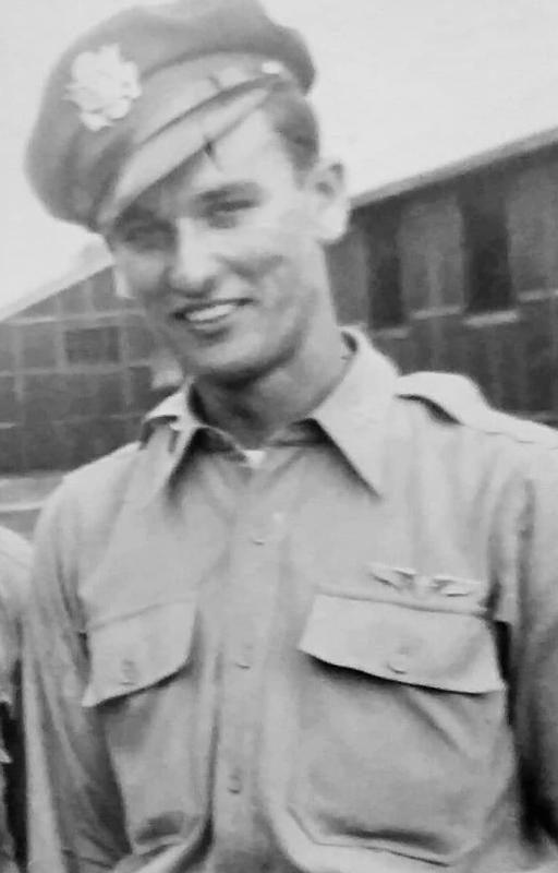 2nd Lt. Monroe S David of the 96th Bomb Group while in training at Ardmore, Oklahoma June-Sept 1944