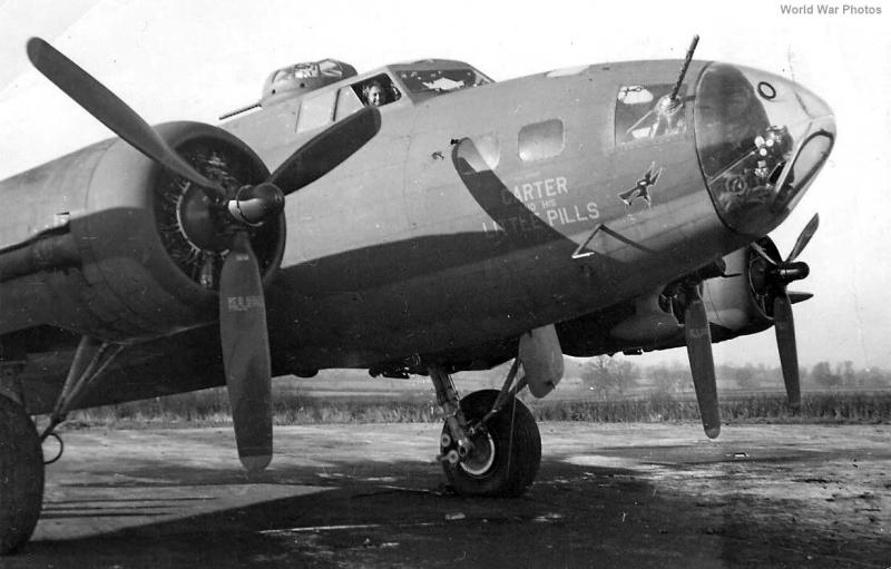 B-17F 41-24588  'Carter and his Little Pills' 364BS, 305BG, 8AF.