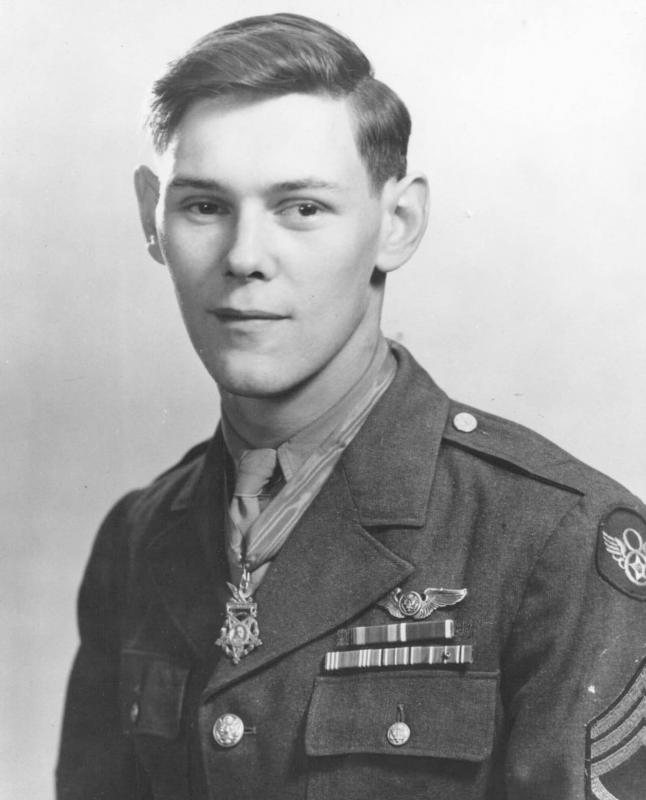 Tech Sergeant Forest Lee Vosler recipient of the Congressional Medal of Honour.