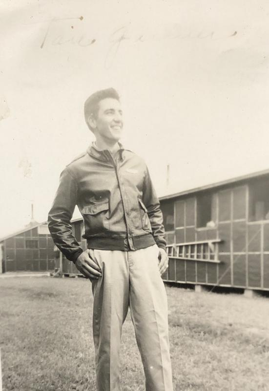S/Sgt. Jack Dominick Spadafino Tail Gunner  #32969235 Photo taken while in training at Ardmore AFB - Ardmore, OK