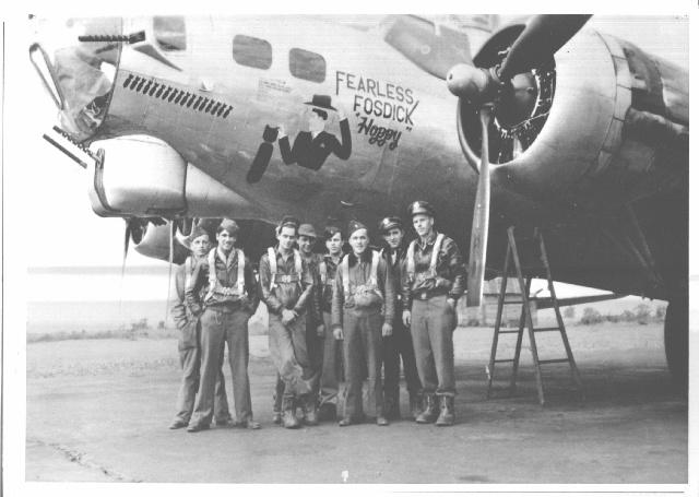 First crew of Fearless Fosdick with the Pilot in Command