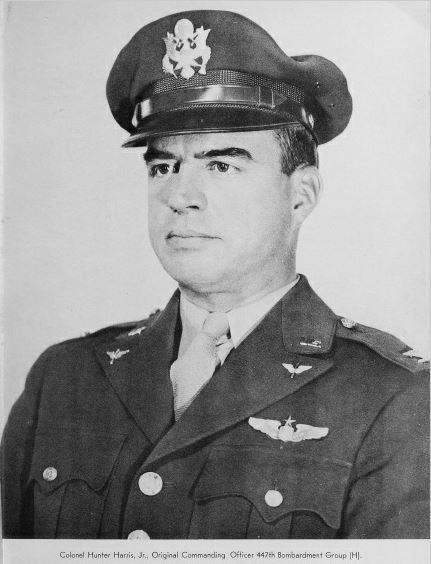 Colonel Hunter Harris Jr, Commanding Officer of the 447th Bomb Group.