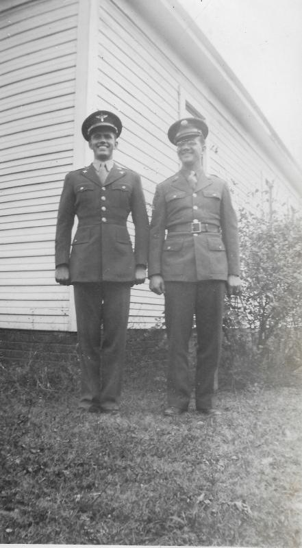 Capt. Donald Eugene Purcell and his brother, Roy Purcell (Army)