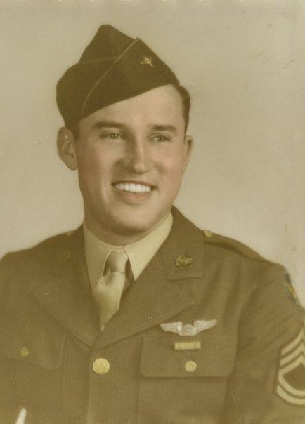 Charles Emro Lipscomb served as a Communications Technician (Radio-Gunner) from 1941 to 1945 in the U.S. Army Air Forces, Ninth Air Force, 587th Bombardment Squadron, 394th Bombardment Group; with no days lost