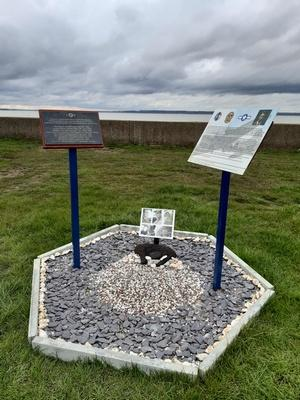 Upgraded Memorial to the crew of B 17G #44-6133 at Allhallows Holiday Park, Allhallows, Kent. March 2020.