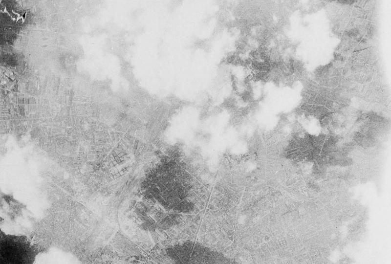 8th Air Force mission 510; August 2, 1944; Paris area. 447th Bomb Group strike photo