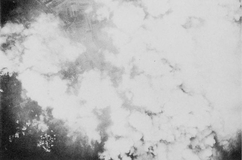 8th Air Force mission 309; April 20, 1944; V-1 launching site, France. 447th Bomb Group strike photo