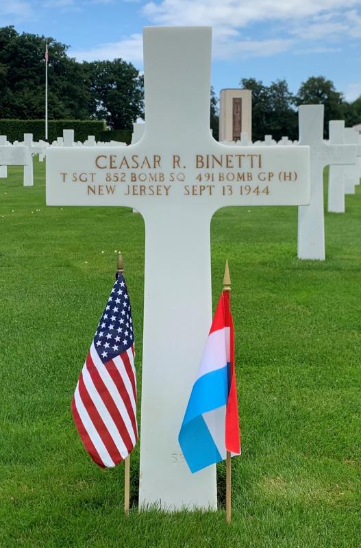 T/Sgt Ceasar R. Binetti, 852nd BS, 491st BG, 8th AF.  Photo via American Battle Monuments Commission.