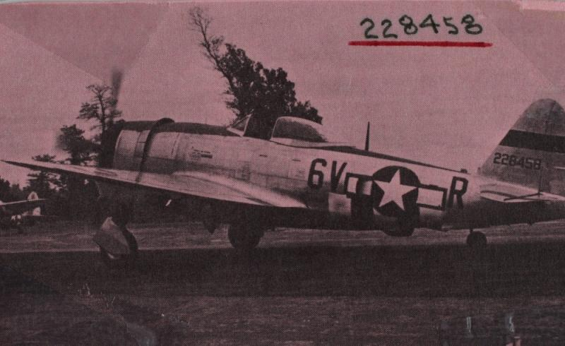 P-47D-28-RE #42-28458  Code: 9V-R 36th Fighter Group - 53rd Fighter Squadron - 9th AF
