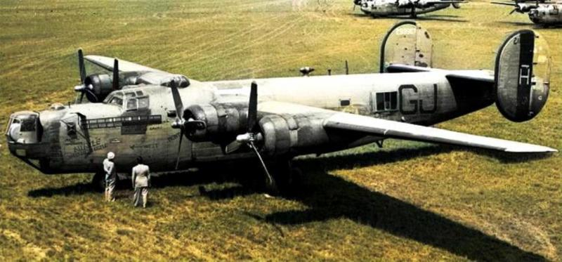 B-24 42-99967 'Myrtle the Fertile Turtle' variously of the 66th, 67th and 506th Bomb Sqn's, 44th Bomb Grp.