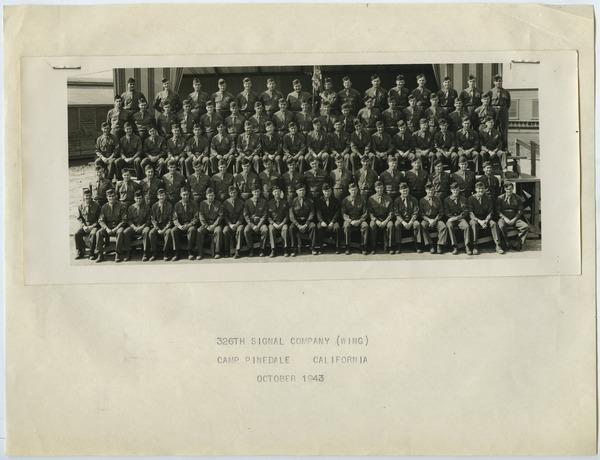 326th Signal Company Wing at Camp Pinedale