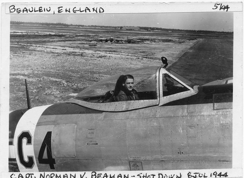 Captain Norman V. Beaman 365th FG - 388th FS - 9th AF shot down on 18 July 1944. He evaded and returned to duty.