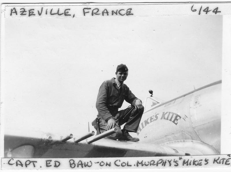 Captain Edward Louis Baw 365th Fighter Group - 388th Fighter Squadron - 9th AF