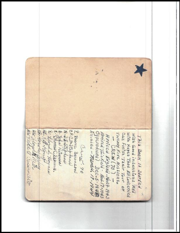 390th Bomb Group, 571st Bomb Squadron, CREW  70 .  Personnel Log entry  from my uncles journey ,