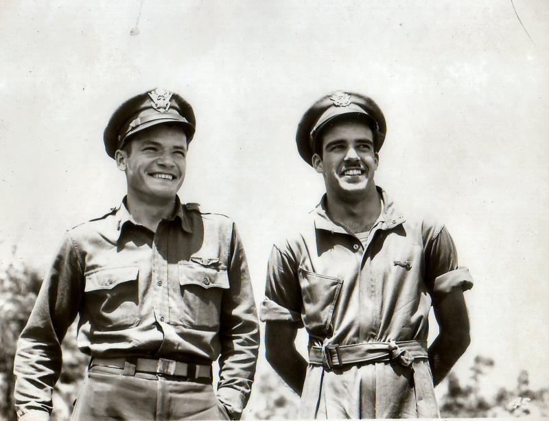 1LT Burton C. Smith (left) 1LT Peter N. Beet (right) Both pilots with the 47th BG - 97th BS - 12th AF Beet was KIA on 6 July 1943
