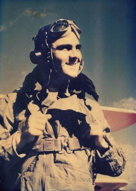 Ken Beeby who trained on Course 11 at Falcon Field starting on 20 September 1942 and graduated on Course 12 (the gap caused by a broken arm) on 8 April 1943.