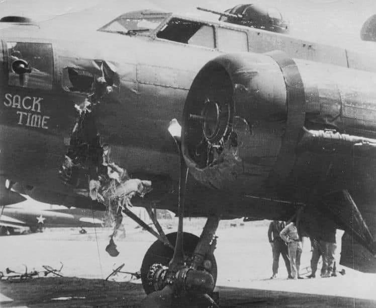 This Douglas B-17F-DL looks to match the AAM synopsis for the B-17F-40-DL at 42-3275 SACK TIME transfered to the 94th BG from the 92nd BG (MARY B).
