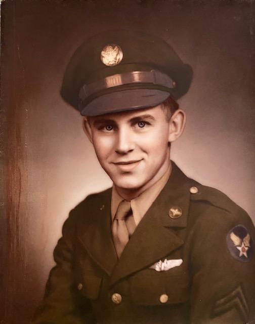 Don Graham was a B-17 waist gunner/togglier flying out of Great Ashfield with the 385th BG 548th BS as a member of the Gerald Stalcup crew. Donald Graham photo after graduation from gunnery school.