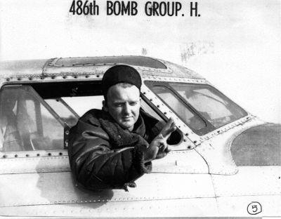 George D. 'Hunter' Smith, Pilot, flying B24H & B17R Bombers for the 486th Bombardment Group, and the 835th Bombardment Squadron based at RAF Sudbury near Acton, England.