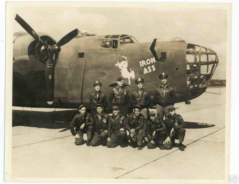 B-24D - 'IRON ASS'  -   # 42-40769.    Prior to departure from the US for the UK and the 389th BG in June,1943.   'IRON ASS' was shot down over Solingen, Germany.  Dec 1,1943