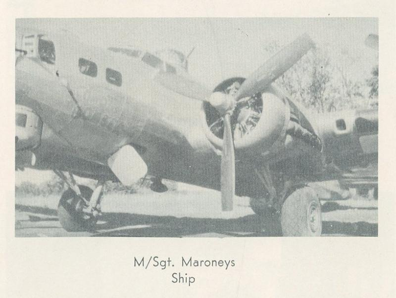 43-37869  Blond Bomber was named by crew chief M/Sgt Milan P. Maroney, in honor of his wife.