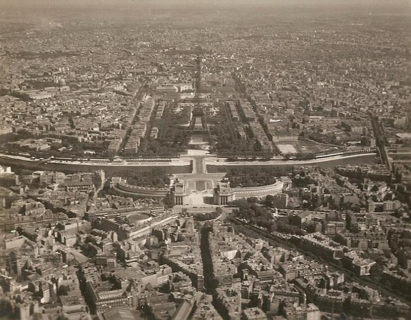 Over Paris, France Discovered by Michael Annicaert of Belgium, these photographs were in a collection owned by S/Sgt. Berton E. Swift of the 708th BS.