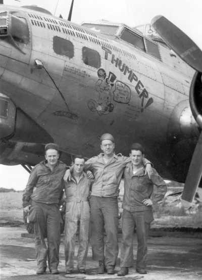 CPL Edward Hogg; Sgt Russel H Jarsky Jr., Theron Gullion-Sheldon, ? Photos provided by Mr. Steven Borcherding and Mr. Allen McBroom,  and the 447th Bomb Group Association
