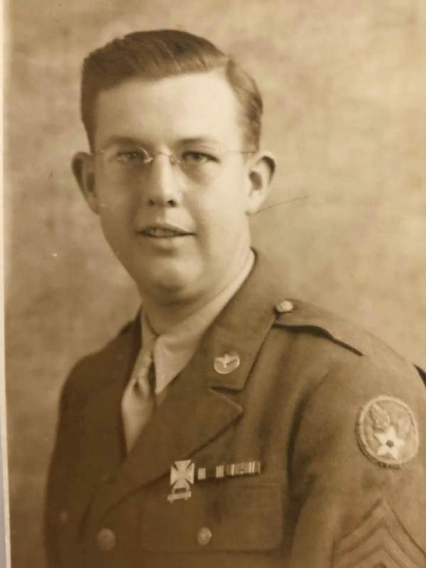 Sgt. Leo B Hollinger was in the 62nd Troop Carrier Squadron,  314th Group in England.  His troop carriers helped deliver paratroopers on D-Day.