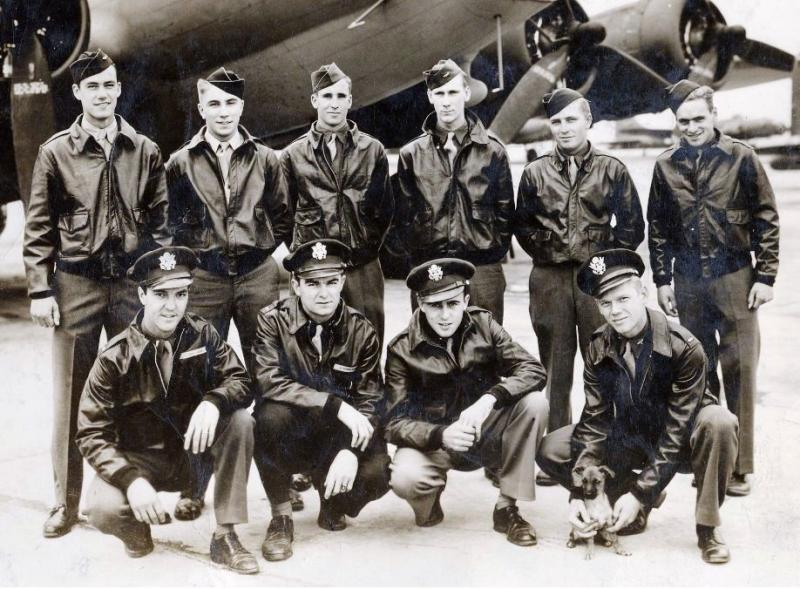 Loren F. Seger Crew 95th BG - 412th BS  Standing Left to Right: Henry W. Held, Jr. (FE), James D. Hartney (WG), Frank M Bessemer (RO), Donald E. McKinney (TG), Dennis W. Roberts (WG), Wilford S. Mack (BTG)  Kneeling Left to Right: Loren F. Seger (P), Robert W. Bugie, (CP), James L. Hutchings (N), William J. Myers (B)  Bessemer is mis-identified as Frank A. Bessemer in the photo. His middle name is Martin.