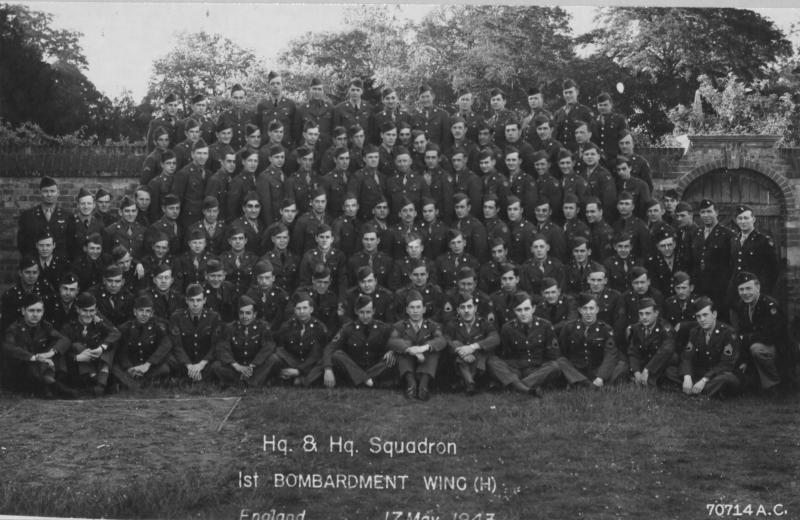 Headquarters  Squadron1943 Outside front of Brampton Park Officers Mess