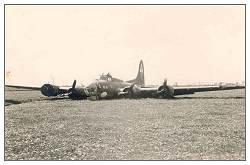 A crashed B-17 Flying Fortress nicknamed