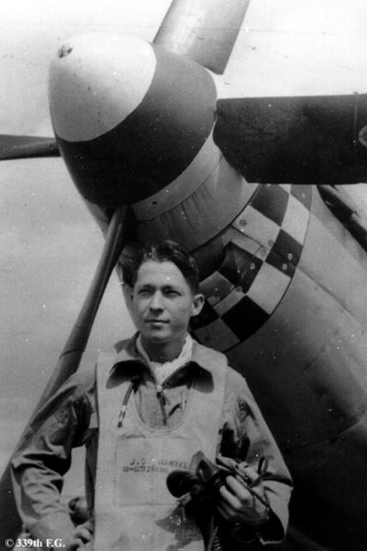 Lieutenant Jack S Daniell from Birmingham, Al. 339th Fighter Group, 505th Fighter Squadron.
