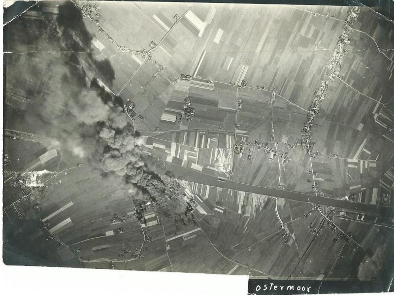 Strike Photo - Ostermoor, Germany oil refinery 20 June 1944 466th BG - 22 aircraft dropped 66 tons of bombs on this target and returned to Attlebridge without suffering any losses.