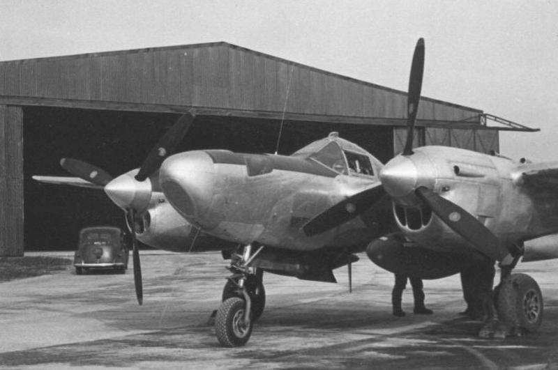 One of the four 'Droopsnoots' at RAF Foulsham. 44-23515 would have been identical. Note radio search aerials above and below nose.  Elint* employed 'Droop snoots' were: 44-23515, 44-23501, 44-23156 and 43-28479. Loaned out to 192 Sqn RAF.  *Elint - Electronic Intelligence gathering.