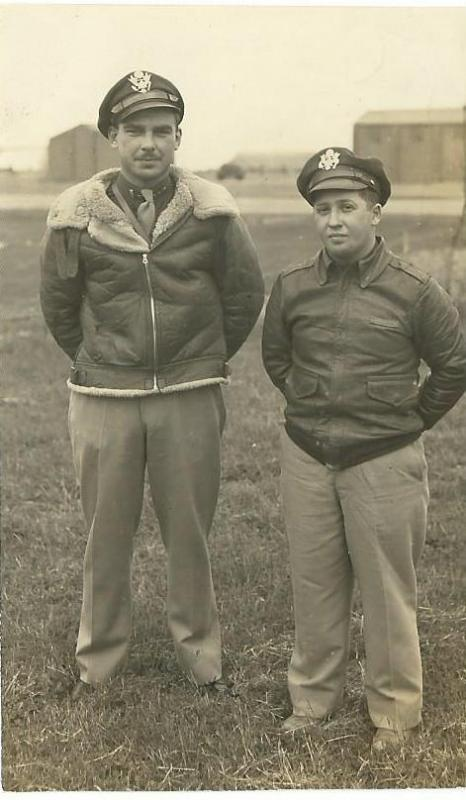 Lt. Arthur A. Kraft - Crew #407 Pilot Lt. Normal Siegel - Crew #407 Bombardier  These gentlemen were the first two 466th crewmen to finish a 30 mission tour.