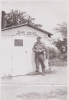 MSGT William V. Love Ground Crew Chief 466th BG - 787th BS Standing outside his line shack at Attlebridge