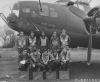 The Lt Robert B. Campbell crew, photographed on 21 April 1943 Front Row Right is Lt Bernard Priebe. Other names of the group but not identified are Cpt Santora, 2nd Lt Ballock? S/Sgt Hackwith, S/Sgt Butler, T/Sgt La Grossa? S/Sgt Parfitt, S/Sgt Beniki