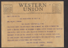 Telegram stating that Victor Ciganek was wounded and his general condition.