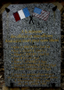 Plaque in memory of the 7 crew members of 42-72873 who lost their lives on the night of 5 July 1944. Location : at the entrance to the municipal cemetery of Trancrainville (Eure-et-Loir), France.  Seven Killed In Action (KIA) : Pilot John O. Broten; Navigator Roy C. Gehue; Bombardier Alfred C. Emert; Radio Operator William Freidkas; Top Turret Gunner Harry L. Sparks; Left Waist Gunner Jessie R. Ellis; Tail Gunner Michael J. Pranzetelli. - Photo : family of the sole survivor, Co-Pilot Edward Tappan,