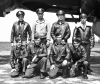 The John O. Broten crew, with Co-Pilot Edward Tappan, standing, second from left, Harrington, Spring 1944. (Official USAAF photo)