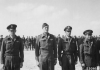 """Original USAAF photo caption :  """"23096 AC – Left to right : Capt. Edwin C. Baker, Pasadena, Calif., Capt. Philip R. Ziegler, Seattle, Wash., 1st Lt. Jacob B. Epting, Tupelo, Miss., 1st Lt Frank R. Hodges, Kosciusko, Miss."""" (Awards ceremony in Egypt – photo sent on 3 March 1943 by Lt. Tom Prideaux, from 9th Combat Camera Unit, Cairo, Egypt.) NOTE : Captain Baker, Lt Upting and Lt Hodges were members of the 93rd Bomb Group / 409th Bomb Squadron."""