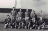 """The B-17F JOHNNY REB JR. or II (41-24443) crew on the October 21, 1942 97th BG Mission #16. Back row, from left to right : 1st Lt. Milton Marion """"Milt"""" Stenstrom (Pilot), 1st Lt. Robert L."""
