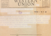 Western Union Telegram sent by War Department to George C. Richards notifying that Captain George E.  Richards was Missing In Action over Bulgaria since January 10, 1944.